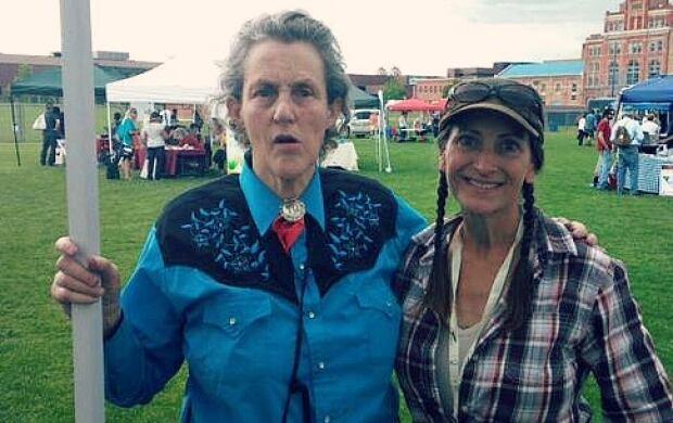 Pig farmer Julia Smith and her hero Temple Grandin