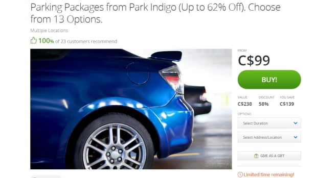 The Groupon website limits the purchase of two of the packages per customer.