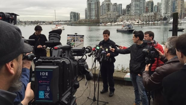 Vancouver police marine unit's Const. Janet Stinger says the two men were arrested in December following a tip from the public.