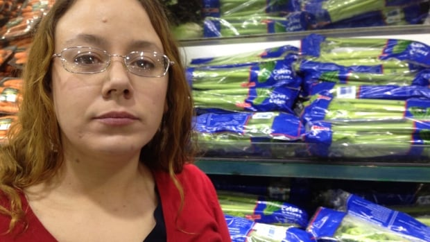 Gail Chaisson, 32, is on disability and routinely scours grocery store flyers for bargains and coupons, in addition to using the Ottawa Food Bank about twice a month.