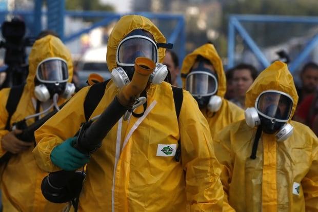 BRAZIL ZIKA VIRUS fumigators at Sambadrome ahead of Carnival Jan 26 2016
