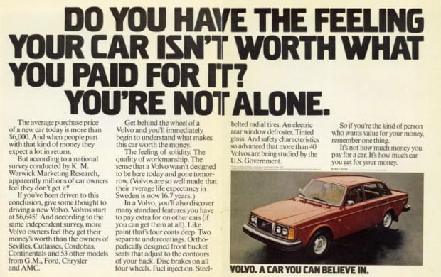 Volvo - A Car You Can Believe In
