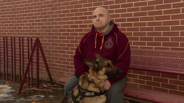 Sgt. Jeffrey Yetman says he can't picture his life without his service dog.