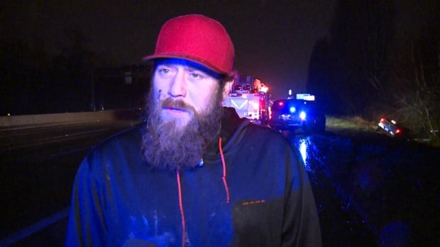 Jeremy Birch helped rescue a man who rolled his truck into a ditch on Highway 99 near Steveston Highway.