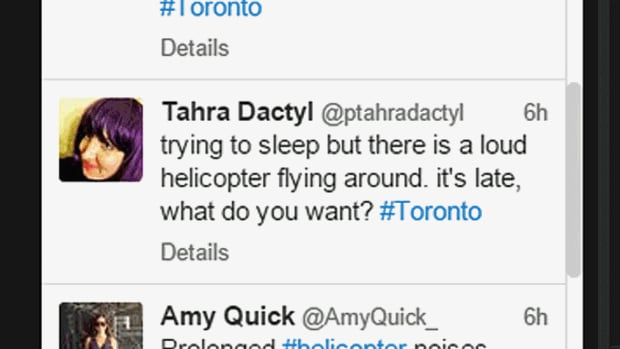 Some Toronto residents turned to twitter to ask why a helicopter was hovering overhead last night. Police later tweeted back with an answer.