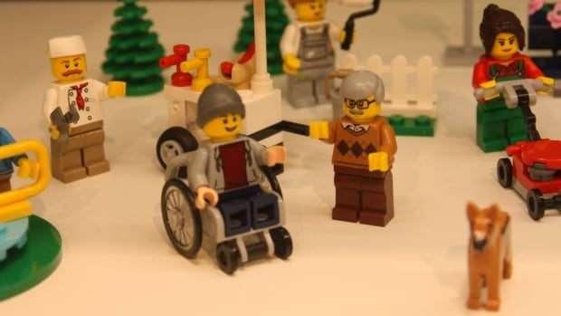 The Lego set 'Fun in the Park,' to be released this summer, has 15 figures, including a baby and a boy using a wheelchair, a first for the toymaker.