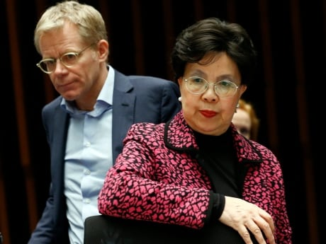 Dr. Margaret Chan, director-general of the World Health Organization, and Dr. Bruce Aylward, assistant director for emergencies, raised the alarm about the mosquito-borne Zika virus 'spreading explosively' in the Americas at a special meeting in Geneva on Jan. 28, 2016.