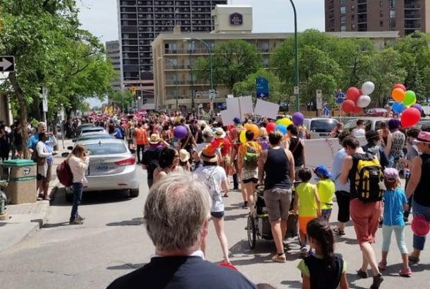 Pride Winnipeg parade 2015
