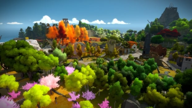 Explore an abandoned island in The Witness, a game made by Thekla Inc., a studio led by indie developer Jonathan Blow.