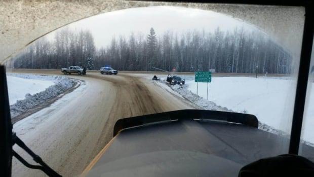 Stolen truck in ditch