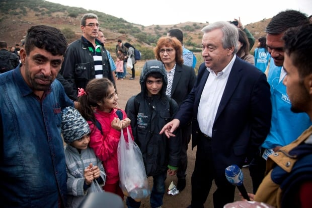 Greece Migrants Antonio Guterres