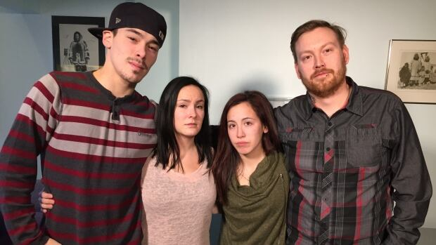 'When a woman, mainly a mother, gets hurt in any way, it doesn't just affect her, it affects everybody else in the most drastic ways, it hurts,' said Jayko Ritchie (far left), the son of Sylvia Lyall Ritchie, who was murdered in Iqaluit in 2004.