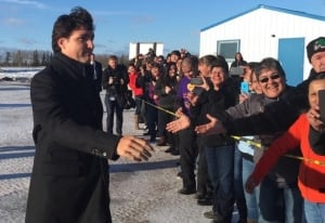 Justin Trudeau arrives in La Loche