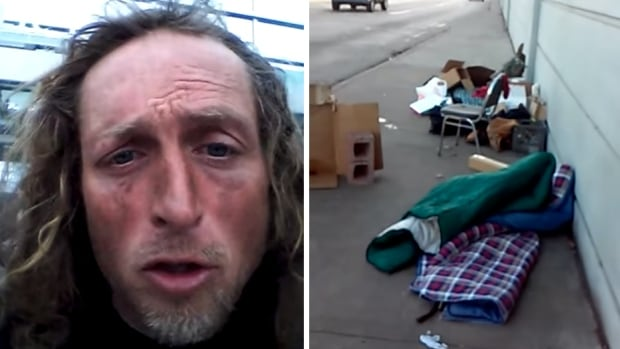 Abe Hagenston, a 42-year-old homeless man from Detroit who panhandles by the Eight Mile Road overpass of Highway I-75, says he is now taking credit card donations through a smartphone card reader.
