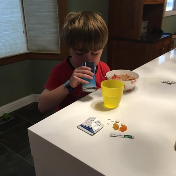 Eli Wilson takes his first dose of Translarna