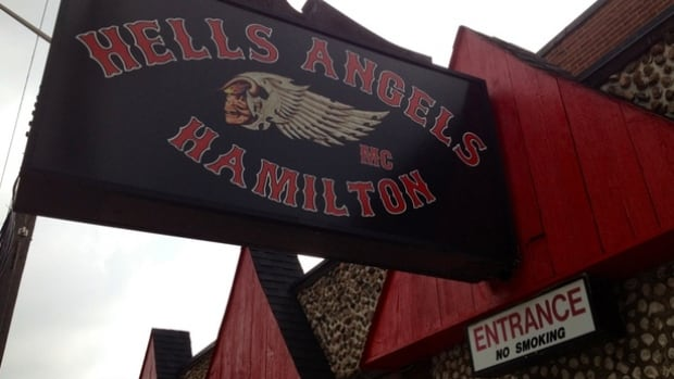 The Hamilton chapter of the Hells Angels clubhouse on Beach Road is located in the former Gage Tavern (CBC)