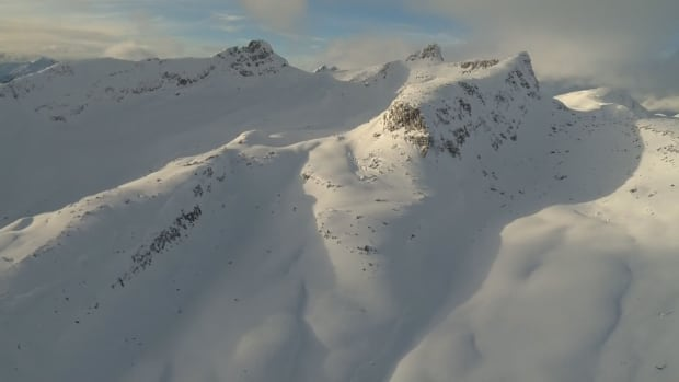 Mountains near McBride, B.C. - near where avalanche killed 5 men from Alberta