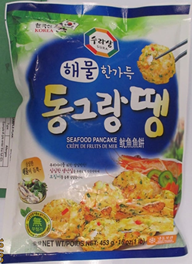 Sura Seafood Pancake 453g recalled due to undeclared egg