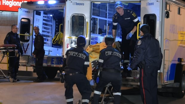 Police and other emergency crews were called to the heart of Chinatown early Sunday when, according to investigators, an assailant opened fire on a group of men.