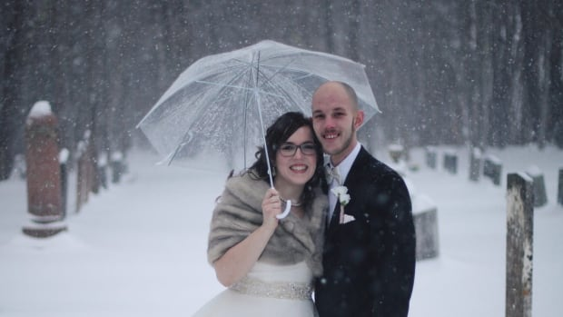 Eden and Mitchell Graham didn't let a little winter storm ruin their wedding day.