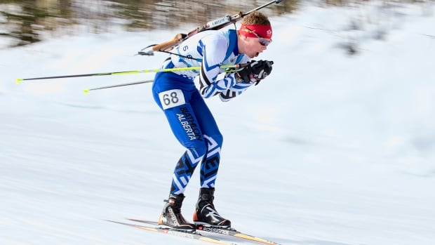 Biathlete Ben Churchill, pictured above at the 2015 Canada Winter Games, has been chosen to be Canada's flag-bearer at the opening ceremonies of the Youth Olympics.