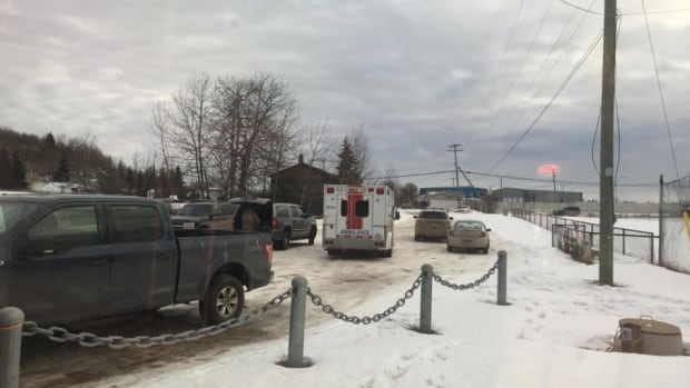 Police and emergency responders set up a containment area around a home in Charlie Lake B.C. for 12 hours after a woman called in a domestic complaint.