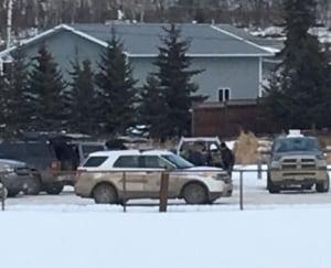 Police at Charlie Lake B.C. home