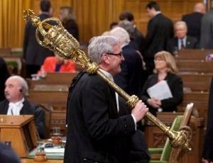 Ottawa Vickers mace Parliament Hill 2014
