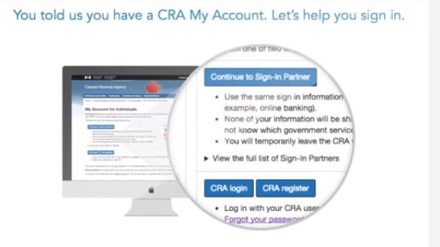 In the TurboTax software program shown, or any certified software, you have the option to login to your CRA acocunt.