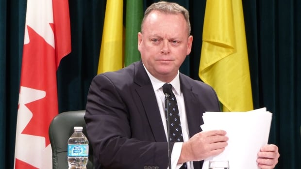 Saskatchewan Finance Minister Kevin Doherty released the province's third-quarter financial update on Monday.