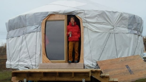 Michael Jeffery built this yurt in the summer of 2015 and says it has held up well this winter.
