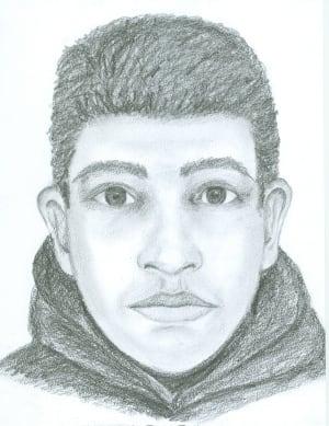 Sexual assault suspect sketch - Surrey, Guildford, teenage girl