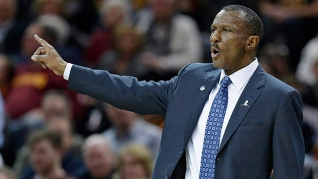 Toronto Raptors head coach Dwane Casey, seen above, holds the franchise record for coaching victories with 186 and has a .518 winning percentage in five seasons with the team.