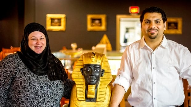 Ehab and Paula Radwan who own Taste of Egypt in Saint John recently hired two Syrian chefs who arrived as refugees.