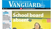 The cover of the Tri-County Vanguard's first edition.