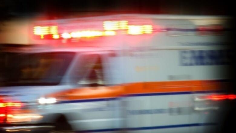 Ambulance blurred