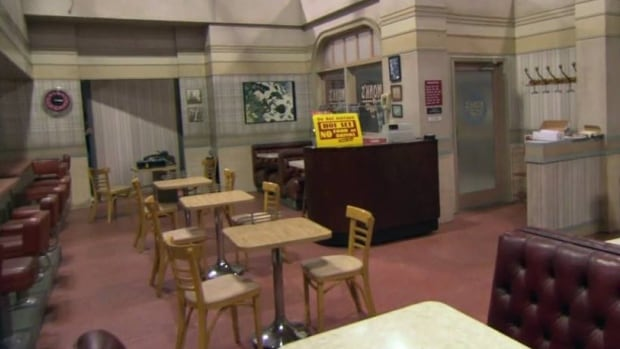 Inside Monk's Diner, from the show Seinfeld.