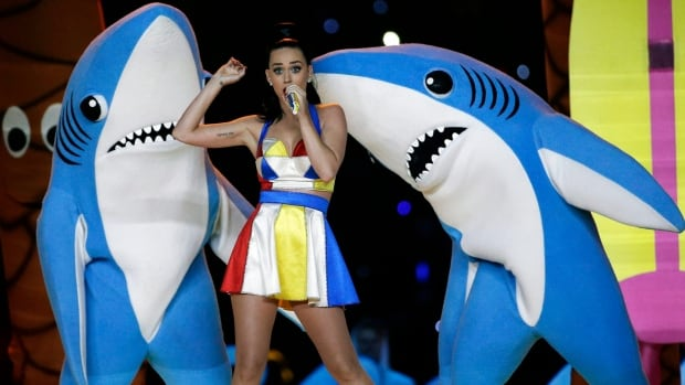 Katy Perry performs during the halftime show at Super Bowl XLIX at University of Phoenix Stadium in Glendale, Ariz., on Feb. 1, 2015. Perry's performance did not disappoint, although she was somewhat upstaged by her left shark, who became an internet sensation after his bizarre dance moves went viral.
