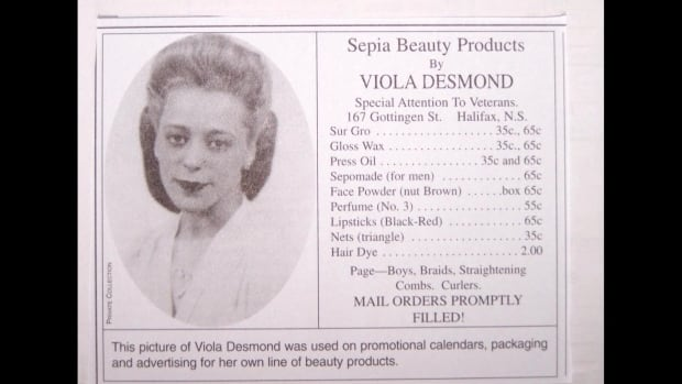 Viola Desmond's Salon Services ad