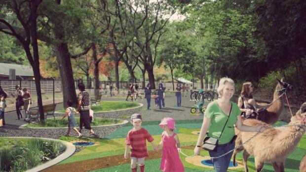 The plan for the High Park Zoo will include places to pet llamas and bunnies.