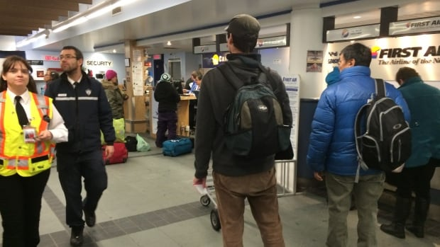 Every year, about 65 to  75,000 passengers are screened by airport security in Iqaluit's airport.