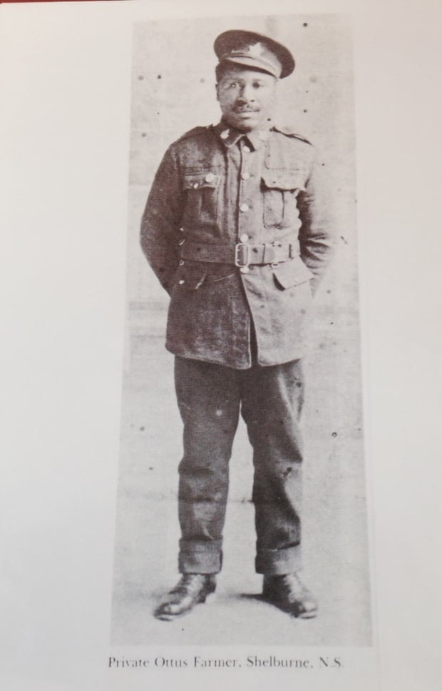 Private Ottus Farmer from Shelburne County stands proud.