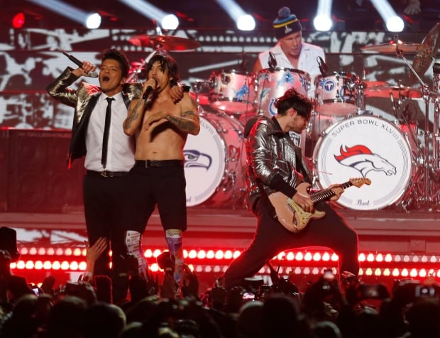 Bruno Mars Red Hot Chili Peppers NFL SUPERBOWL halftime show