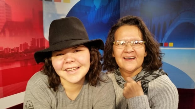 Zoey Roy, winner of the National Indspire Award, and her mother Maxine Roy.