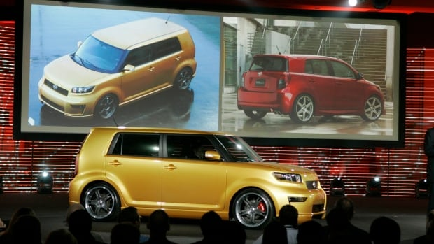 The Scion xB, foreground, was one of the funky, youth-oriented Scion models Toyota launched over the years.