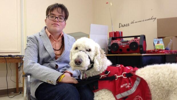Oliver Rukavina and his service dog, Ethan, attend Birchwood Intermediate School in Charlottetown.