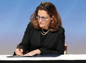 New Zealand Trade Deal Signing