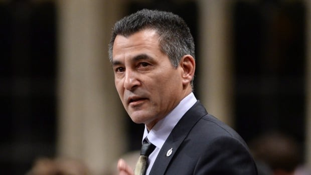 Minister of Fisheries, Oceans and the Canadian Coast Guard Hunter Tootoo responds to a question during question period in the House of Commons on Parliament Hill in Ottawa on Friday, Jan. 29, 2016.