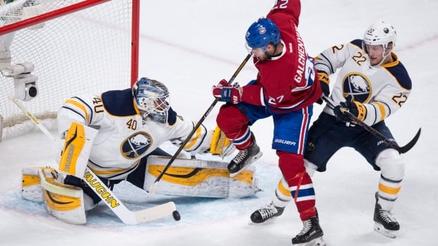 Montreal's Alex Galchenyuk gave the Canadiens a lead against the Buffalo Sabres, but Montreal fell for the second night in a row, 4-2, their 20th loss in 26 games.