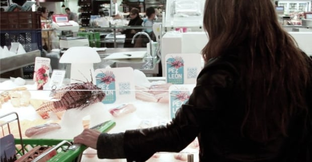 Lionfish in supermarket